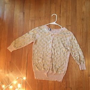 French Connection sequined cardigan